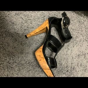 Chinese laundry cork and Skin sandals